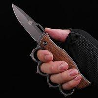 Деревянная ручка складной нож нож из нержавеющей стали из нержавеющей стали портативный инструмент EDC инструмент портативный нож многофункциональный нож самообороны HW168