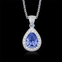 HBP fashion Shi Pei Water Drop women's diamond super flash temperament Necklace simple atmosphere suit new accessories