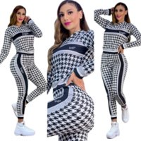 Women's Tracksuits Fashion Design Printing Hoodie 2 Pieces Sport Casual Suits