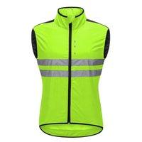 Bike Riding Vest Motorcycle Breathable Reflective Sleeveless Top Riding tanks Windbreaker men women