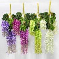 Wisteria mariage décoration fleur artificielle wisteria fleur de soie long 110 cm blanc violet rouge vert1