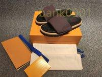 Women men Fashion Designs Flat Sandals Comfort Beach Slide Slippers Crocodile Skin Leather Flip Flops Sexy Ladies Orange Scuffs Shoes Original Box Dust Bag Pretty