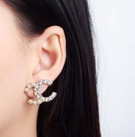 뜨거운 판매 최고 품질의 드롭 귀걸이와 다이아몬드와 진주 여자 웨딩 쥬얼리 선물 무료 배송 PS3496