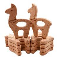 5pcs Baby pacify nipple gum toy cartoon animal beech molar bar log color accessories