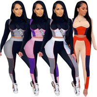 womens yoga tracksuits long sleeve hoodie outfits shirt pants 2 piece set skinny tights sport suit pullover