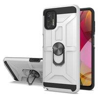 하이브리드 킥 스탠드 링 케이스 Motorola Moto G8 G Play 2021 Power One ACE 5G G10 G30 G9 E7 퓨전 플러스 홀더 커버