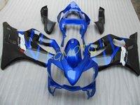 BLUE HONDA CBR600F4I CBR600 F4I 2001 2002 2003 fairings kits injection motorcycle parts cowling CBR 600F4I 2001-2002-2003 01 02 03 bodykits bodywork #Q02J