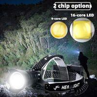 Steadlamps D2 Super XHP160 La più potente faro a LED XHP99 High Power Footlight 18650 lampada da pesca ricaricabile