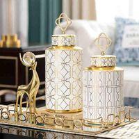 花瓶北欧の装飾ホーム花瓶モダンな陶磁器の装飾品リビングルームライト高級陶器ポットデコール