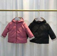 Nuove ragazze invernali a doppio lato cappotto in cotone-imbottito per bambini caldi giacche per bambini per bambine con cappuccio Bambino Bambini Capispalla