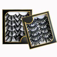 5pairs 3D fake Eyelashes Wispy Fluffy Mink Lashes Natural Long Dramatic Volume Eyelash Extension Faux Cils Vendor