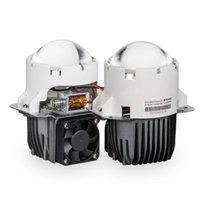 Faróis de carro Lentes de projetor bi-lideradas para hiperbolóides olhos de anjo lente 3.0 '' com hella 3r g5 bracket 55w 6000K LED luzes acessórios