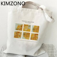 Van Gogh casual fashion shopping bag jute personality creative student one-shoulder canvas bag can be reused