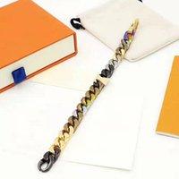 Bracelete unisex moda pulseiras para homem mulher jóias ajustar pulseira jóias 6 cor com caixa