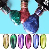 Gel à ongles 5D Cat Eye de chat magnétique 7,3 ml Polonais Soake Off LED UV Laques UV Vernis Vernis Noir Base Noir Besoin Nails Art Outils