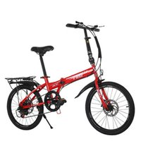 20 Inch 21Speed Folding Bicycle Adult Carbon Steel Folding Bicycle Double Disc Brake 3 orders 2019 New Bike Y0913
