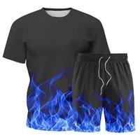 رياضية رجالية الصيف سريع الجافة تجريب الملابس خفيفة الوزن تنفس الزى والسراويل مجموعة 2 قطعة قصيرة رياضية الركض البدلة الرياضية