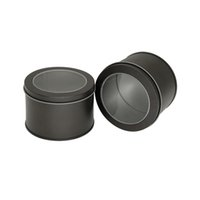 90 * 60mm portátil de hojalata redondo caja de embalaje de té postre de metal botella de almacenamiento té café fruta seca galletas mini tarros gwd5364