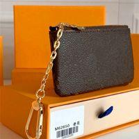 Custodia chiave M62650 Pochette Cles Designer Fashion Womens Mens Portachiavi Chiave Porta carte di credito Portamonete Borsa di lusso Mini portafoglio Borsa Charm Brown Canvas