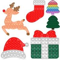 Flash-Angebote 2021 Hot Christmas Fidget Toys Push Bubble Spiel Für Erwachsene Kinder Anti-Stress Weiche Silikon Sensorische Geschenke Wiederverwendbare Squeeze Spielzeug