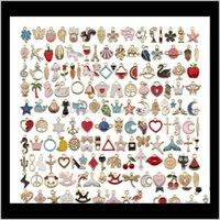 Misturar 150 pcs descobertas de jóias a granel gotejamento de óleo artesanal diy acessórios de jóias encantos pingente apto brinco bracelete colar jóias fazer ojdbq