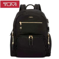 Tumi tuming backpack women 196300 nylon with leather large capacity waterproof Computer Backpack Travel Bag