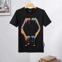 21fw أعلى جودة الرجال النساء مصمم القمصان الفاخرة فيليب قميص PJS هوديي جاكيتات الصيف جولة الرقبة الجمجمة الماس USD قمصان الأحذية 10