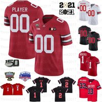 2021 Ohio State Buckeyes Jersey Jersey Jersey Haute Qualité NCAA Football Jerseys Personnalisé Hommes Jeunes Jersey Jersey Justin Champs