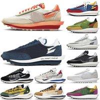 2021 Otantik Clot X SACAIS LDWaffle Fragment Vaporwaffle 2.0 Ayakkabı LDV Eğitmenler Erkekler Kadınlar Açık Spor Sneakers Orijinal Kutusu