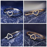 Exquisite ladies ring hollow heart-shaped couple wedding promise unlimited eternal love jewelry gift