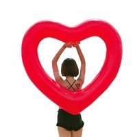 Kamizelka ratunkowa boja 2021 Nadmuchiwany pierścień kąpielowy Czerwony kształt serca pływający Narzędzia Basen