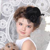여성 신부 머리 새로운 어린이 탑 모자 헤어핀 아트 사진 사진 소품