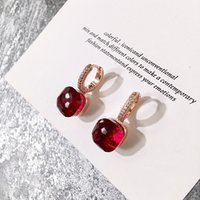 2021 garnet earrings real diamond expensive designer charm small stud earings gemstone multi cutting surface rose gold womens good quality earring luxury jewelry