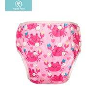 HappyFlute Baby Reutilizable 1 unid natación Pañales Niños o niñas Dibujos animados Traje de baño Niños Ajustable Summer Natación Pantalones de pañales H0830