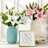 Decorative Flowers & Wreaths 1 Piece Lily Artificial Home Decor Wedding Decoration Candy Box Christmas Diy Indoor Furnishings Bridal Bouquet