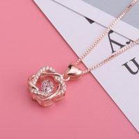 Guanming jóias colar de prata batendo coração pingente mulheres s925 esterlinas inteligente dia dos namorados r1zz