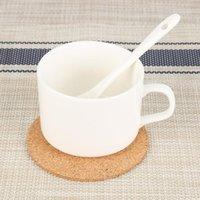 Коврики Pads Handy Round Form Dia 9cm Простые натуральные корки Пристани винный напиток Кофе чай чашка чашка для домашнего офиса кухня