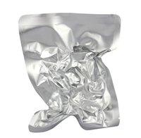 2021 5 * 7cm Pure Silver Aluminiumfolie Öppna Top Mylar Pack Bag 200pcs / Lot Värmeförsegling Vakuumbröd Biscuit Fuktsäker lagringspåse
