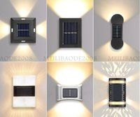 태양 벽 램프 IP65 방수 야외 장식 정원 안뜰 가정용 태양 도로 스터드 라이트 테라스 복도 가로등 3m 접착 탭 또는 나사 사용