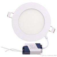 Kısılabilir 3 W / 4 W / 6 W / 9 W / 12 W / 15 W / 18 W / 24W LED Gömme Downlights Lamba Sıcak / Doğal / Soğuk Beyaz Süper ince LED Panel Işıkları Yuvarlak