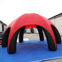 Vermelho exterior 10M Arco Marquee Portátil 6 Pernas Publicidade Inflável Aranha Tenda Gigante Pop Up Abóbada Sem Paredes Laterais para Evento
