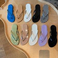 Slippers 2021 Thong Slipper Sandals Women Shoes Fashion Designer Beach Flip Flops Ladies Summer Flat Shower Slides