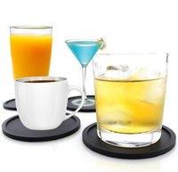 Posavasos de silicona Posavasos antideslizantes Posavero resistente al calor Taza de la taza de la taza de plástico para la protección de la mesa de la mesa se ajusta al tamaño de los vasos de beber WWA203