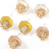 Leaf Shaped Stud Earring for Women Retro Trendy Gold Color Metal Irregular Earrings Jewelry