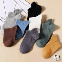 Erkek Çorap 10 Pairs Unisex Ayak Bileği Kısa Çorap Pamuk Erkekler Spor Yumuşak Nefes Erkek Kadın Kadınlar Için İlkbahar Yaz