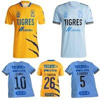 2021 2022 Tigres Uanl Soccer Jersey 21 22 Gignac Nico Salcedo Fernandez F.Thauvin Home Away Sete Estrela Camisa de Futebol