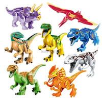 Jurassic dinozor oyuncak toptan acımasız raptor ordu uyumlu yapı taşları mini tuğla dinozorlar oyuncaklar çocuklar için oyuncaklar