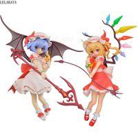 Anime japonés Touhou Project Remilia Scarlet Flandre Scarlet PVC Figura de acción Colección Modelo Juguetes Regalo de Navidad Lelakaya Q0722