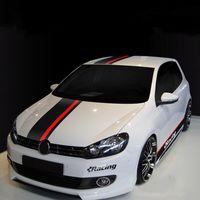 Autohaube Dach Schwanz Aufkleber Auto Ganzkörper Dekorative Aufkleber Sport Styling Für Ford Focus 2/3 Polo Golf 6/7 Kia K3 K5 308