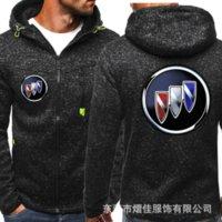 Sweats à capuche pour hommes Buick pour voiture logo Imprimer HiPhop Casual HiPhop Black Capuche Sweatshirts Zipper Harajuku Jacket Hommes Tops NM01